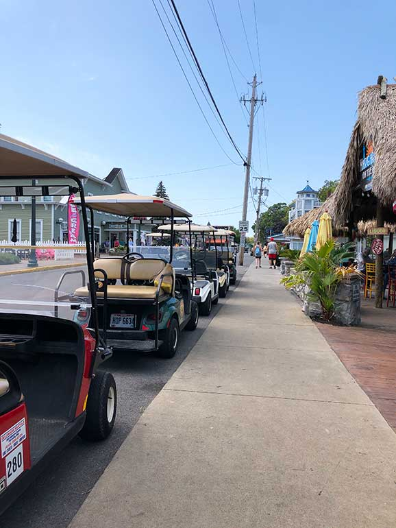 golf carts on an island in ohio