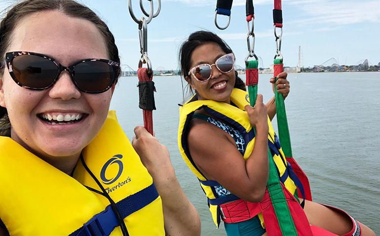 parasailing in sandusky