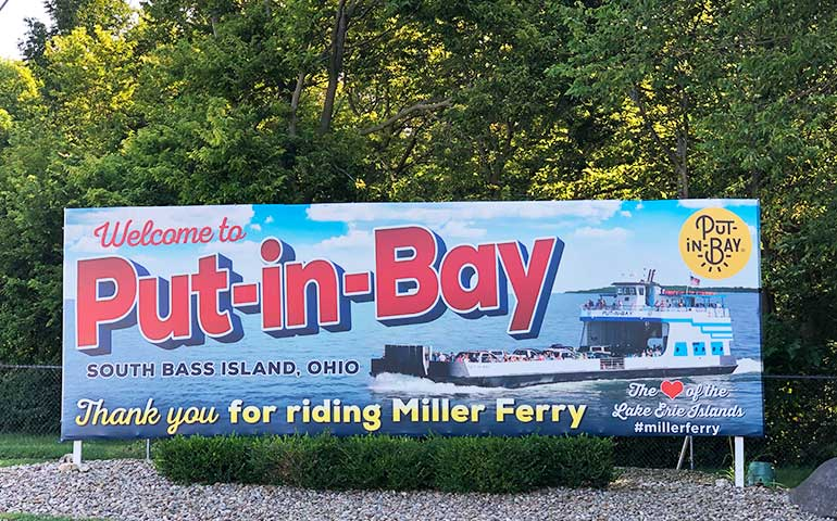 welcome to put-in-bay sign