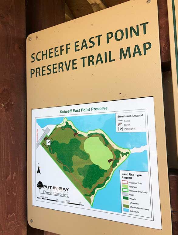 scheeff east point preserve trail map