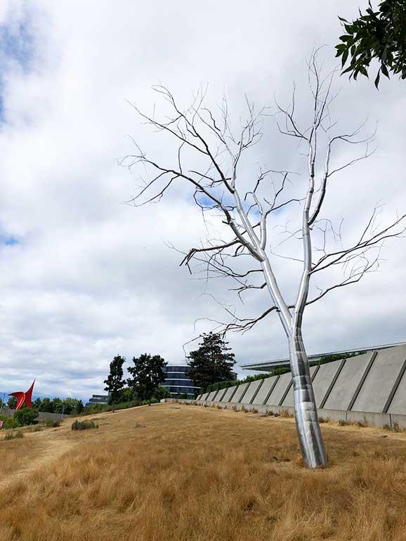 tin tree at sculpture park