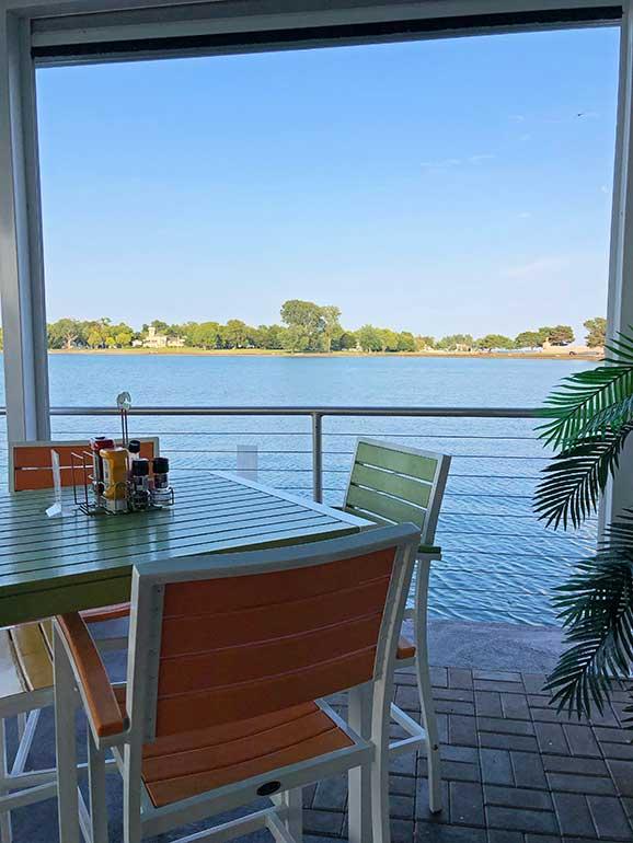restaurant overlooking the water