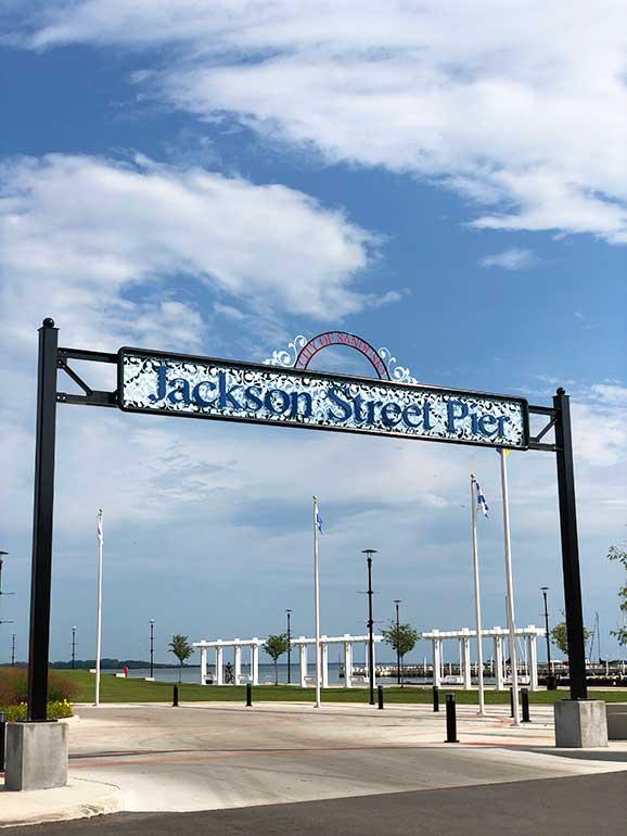 Jackson street pier what to do in Sandusky ohio