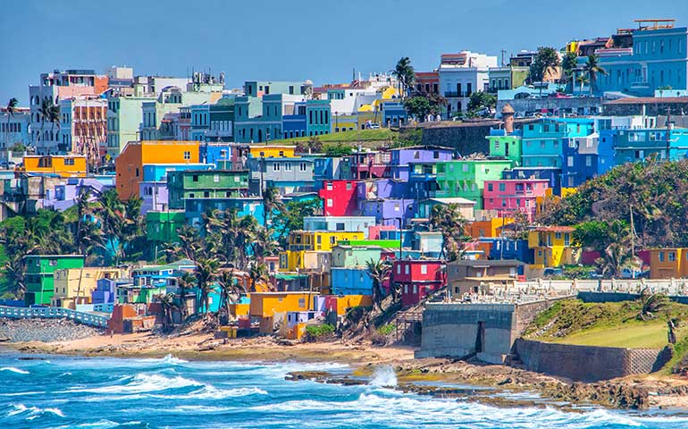 warm winter vacations in the us- Puerto Rico